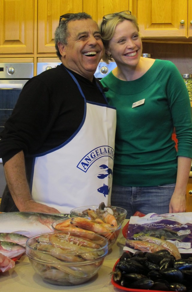 The Seafood King, Michael Angelakis and Charlene from WEA