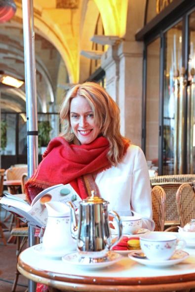 Jane Paech with Delicious Days in Paris. Photo: Vincent Bourdon
