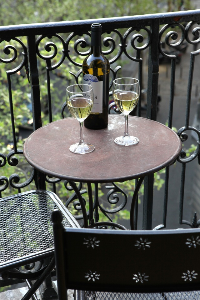 Relax on your little balconette; Paris Perfect apartments. Photo: Vincent Bourdon